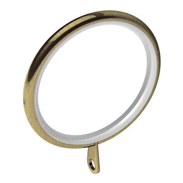 Antique Brass Curtain Rings - Rooms