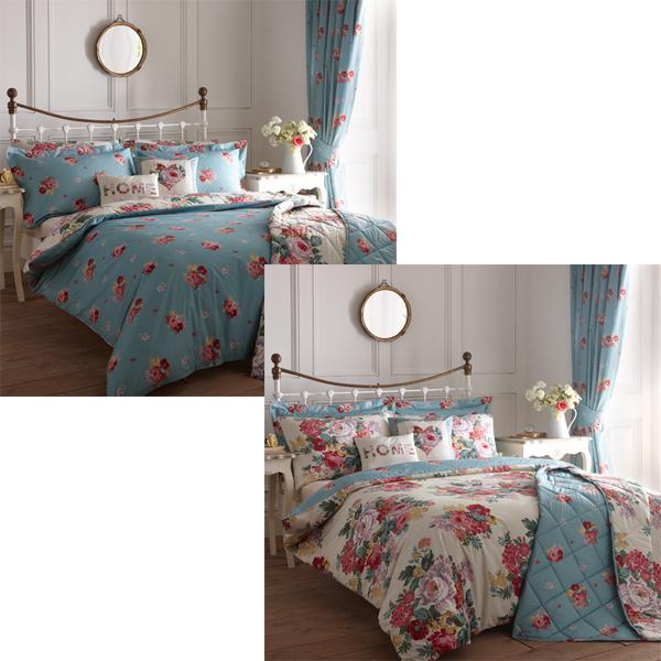 dreams n drapes camberley floral reversible duvet cover set multi ebay. Black Bedroom Furniture Sets. Home Design Ideas