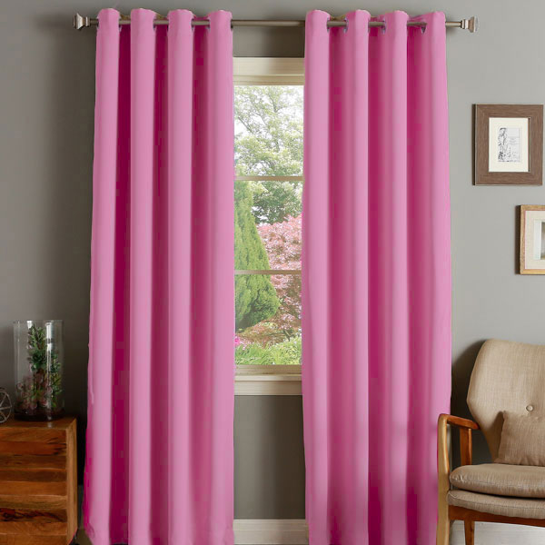 Linens Limited Thermal Blackout Eyelet Door Curtain, 66 x 84 Inch ...