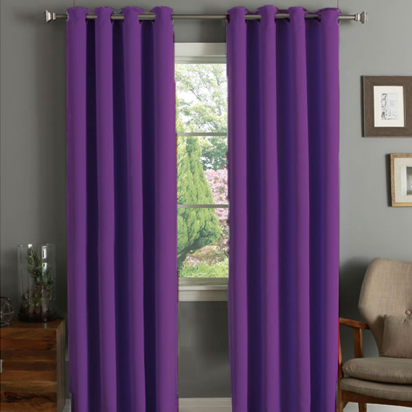 Linens Limited Thermal Blackout Eyelet Door Curtain 66 X