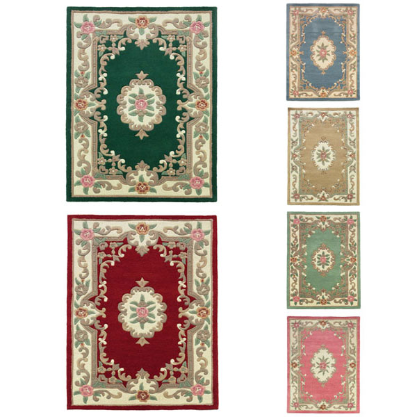 Flair Rugs Lotus Premium Aubusson Traditional Wool Half