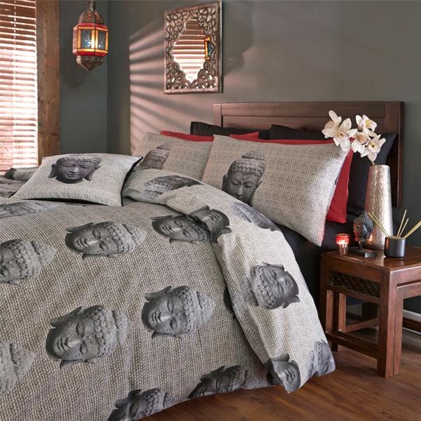 catherine lansfield home thai buddha reversible duvet cover set multi ebay. Black Bedroom Furniture Sets. Home Design Ideas
