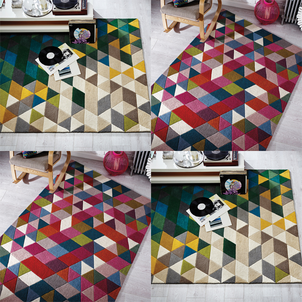 Image Is Loading Flair Rugs Illusion Prism 100 Wool Hand Tufted