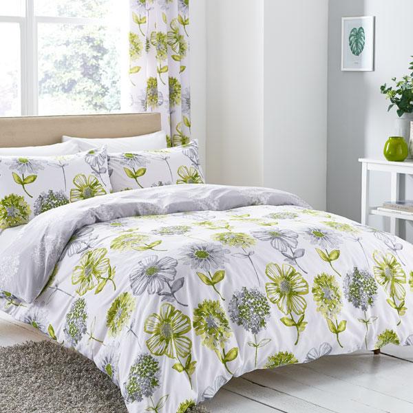 Catherine Lansfield Banbury Floral Duvet Cover Bedspread Curtains Bedding Set Ebay