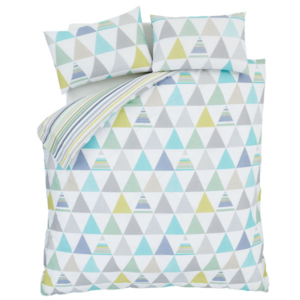 Catherine Lansfield Home Scandi Geo Duvet Cover Curtains