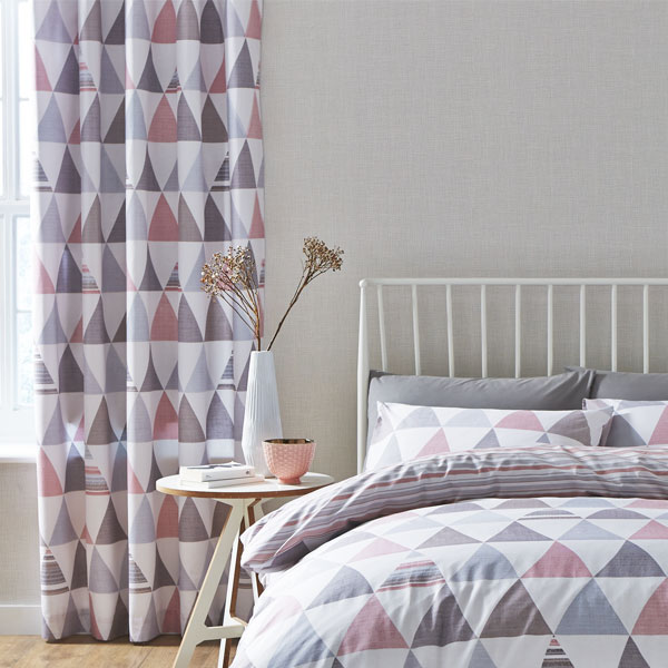 Catherine Lansfield Home Scandi Geo Duvet Cover/Curtains Bed Linen ...