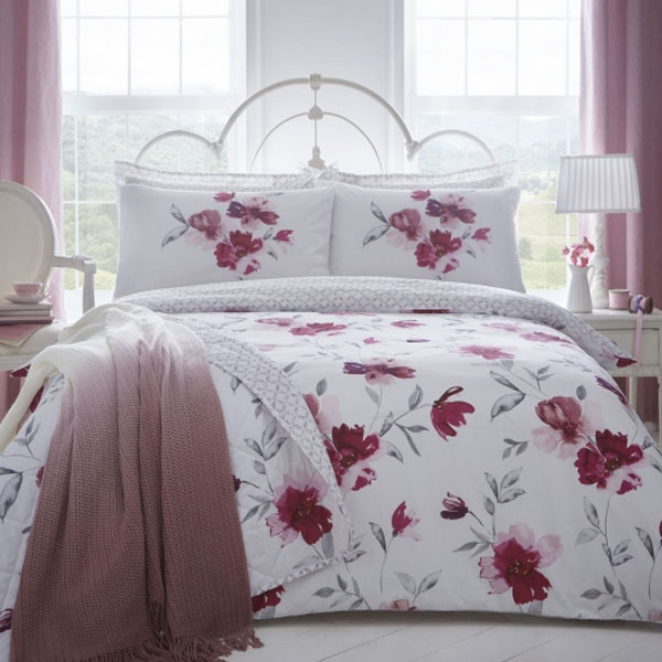 Dreams /'N/' Drapes Celestine Floral Reversible Duvet cover Set