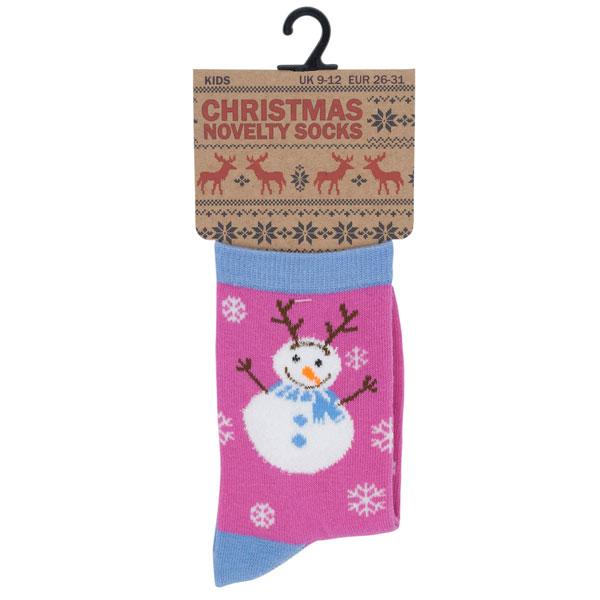 Multi Tom Franks Children/'s Christmas Novelty Cotton Rich Snowman Socks