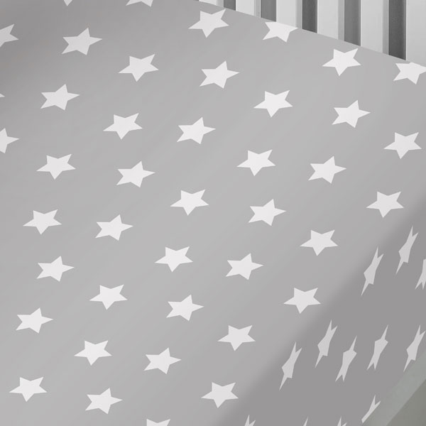 Bedlam Kids Stars Reversible 100/% Brushed Cotton Fitted Sheet