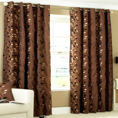 Chocolate And Teal Eyelet Curtains - Best Curtains 2017