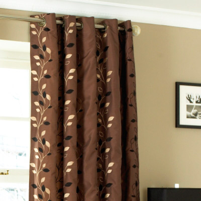 Shower Curtains chocolate brown shower curtains : Paoletti Veneto Eyelet Curtains, Chocolate, 90 x 90 Inch | eBay