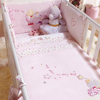 Lottie fairy princess 5 piece coverlet bedding bale cot cot bed