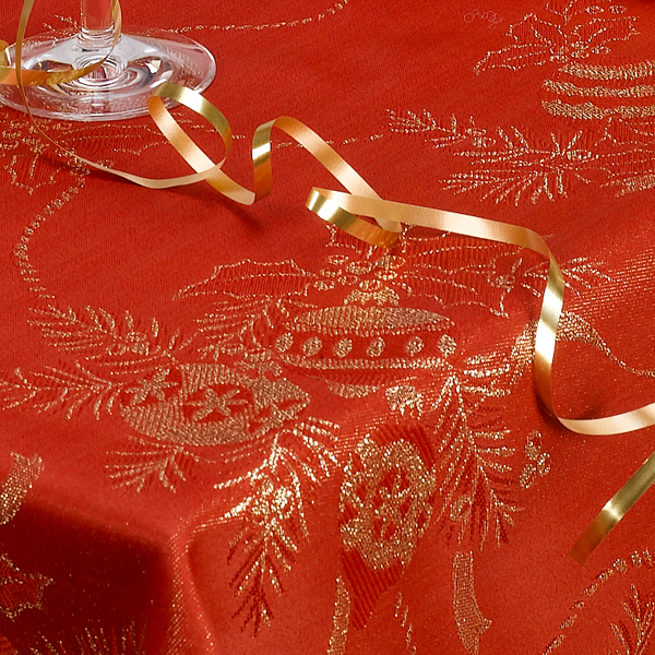 Linens limited angelica christmas dining tableware for 12 days of christmas table cloth