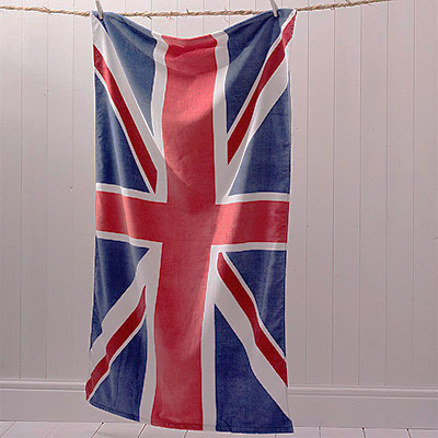 Union Jack / British Flag Beach/Bath Towel, Multi Enlarged Preview