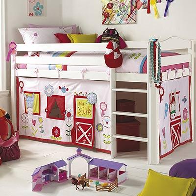 izziwotnot vorhang set f r hochbett ribbons and rosettes ebay. Black Bedroom Furniture Sets. Home Design Ideas