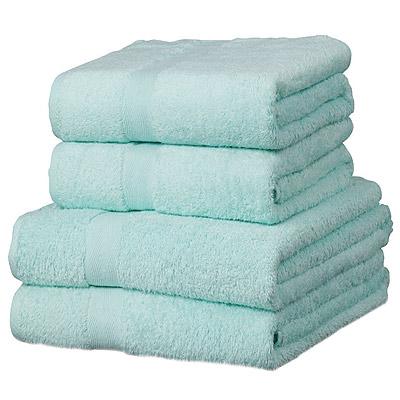 Drap de bain luxor en coton gyptien 600 g m vert d 39 eau for Drap housse coton egyptien
