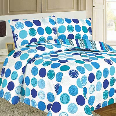 Saturn Circle Duvet Cover Set, Teal, Double Enlarged Preview