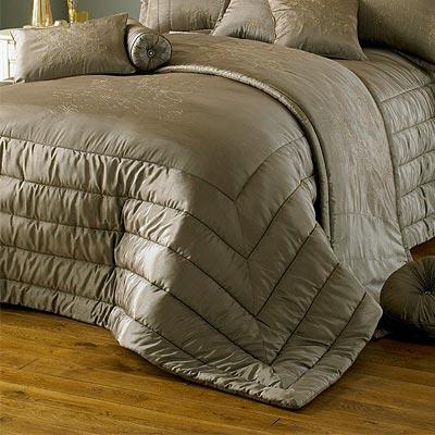 parure couvre lit chic taupe 275 x 275 cm ebay. Black Bedroom Furniture Sets. Home Design Ideas