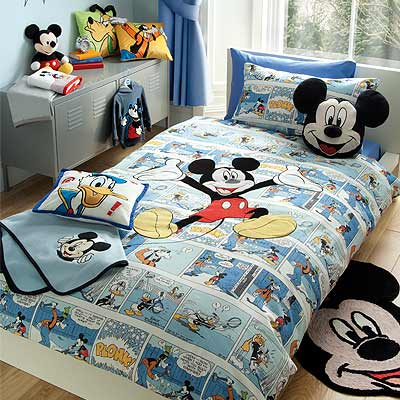 disney micky maus bettwaesche set comic strip bunt 200 x. Black Bedroom Furniture Sets. Home Design Ideas