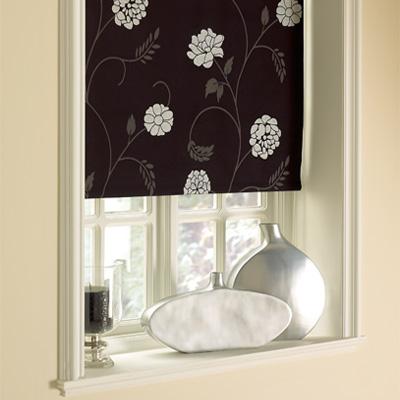 sunlover accents patterned thermal roller blind ebay. Black Bedroom Furniture Sets. Home Design Ideas