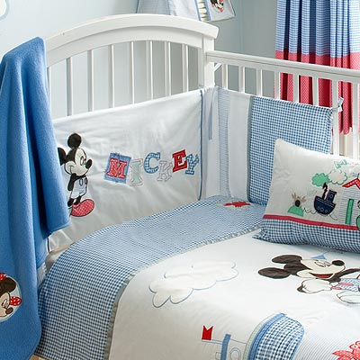 disney tour de lit matelass pour lit de b b mickey mouse sailor ebay. Black Bedroom Furniture Sets. Home Design Ideas