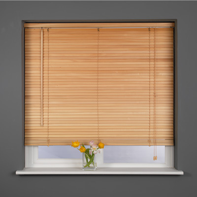 Sunlover Wooden 25mm Hardwood Venetian Blind, Extra Long Drop D210cm