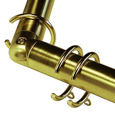 Curtains Ideas curtain rings brass : Swish Belgravia 29mm Bay Window Curtain Pole Passover Rings | eBay