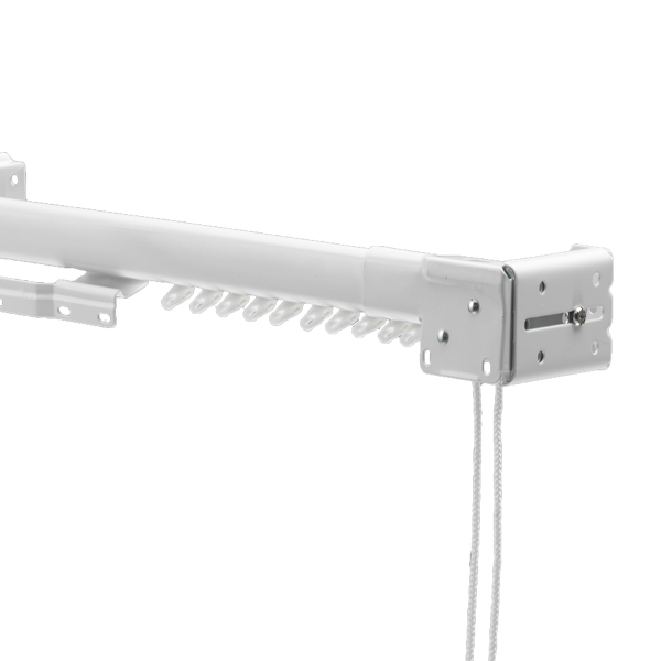 Swish Ultrak Metal Extendable Corded Curtain Track Set, White