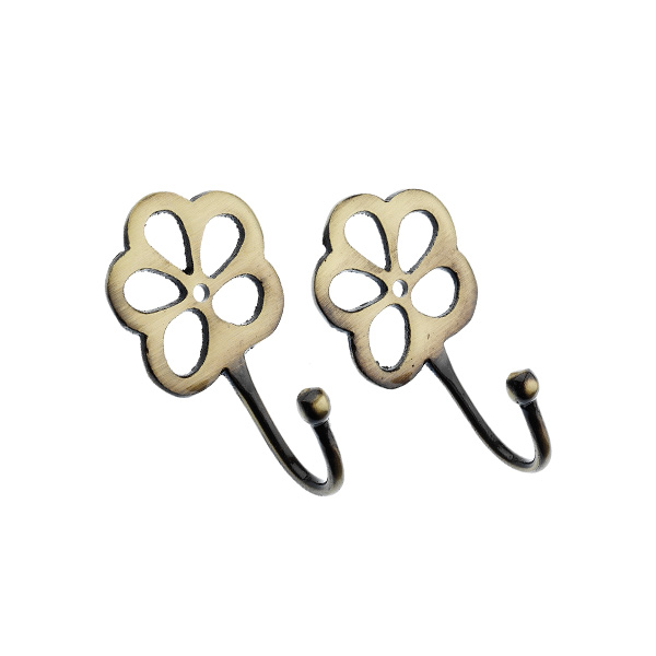 Harrison Drape Clover Metal Curtain Tie Back Hooks, Pair | eBay