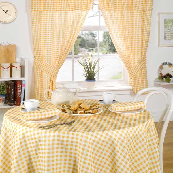 Rideaux de cuisine avec t te fourreau pliss e vichy molly jaune citron 117 x ebay - Cours de cuisine vichy ...