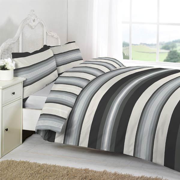Linens Limited Retro Stripe Duvet Cover Set