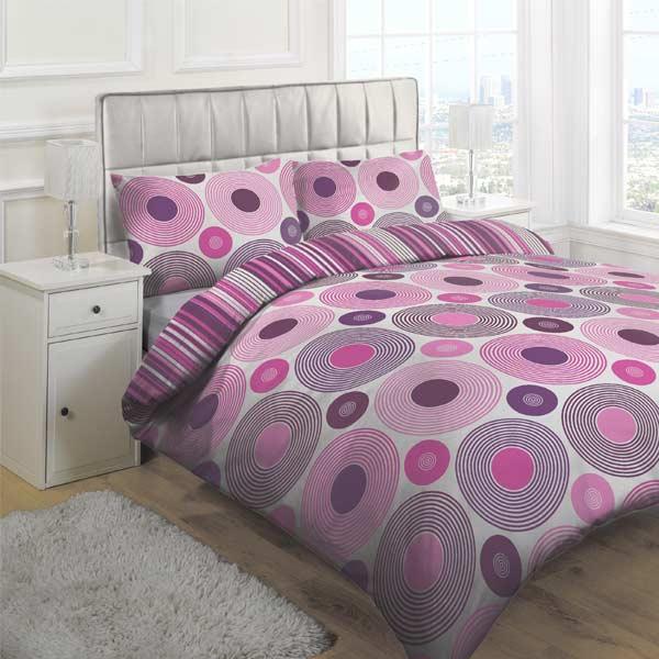 orbital duvet cover set plum double. Black Bedroom Furniture Sets. Home Design Ideas