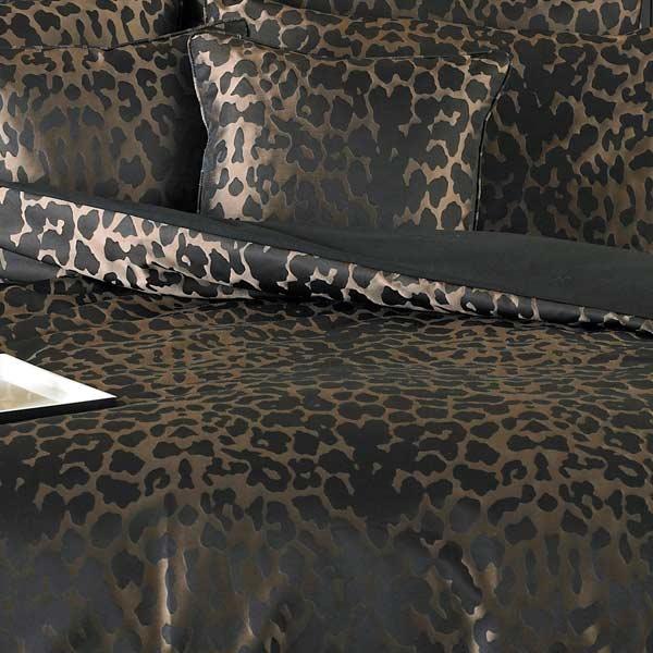 Sierra Leopard Print Duvet Cover Black Ebay