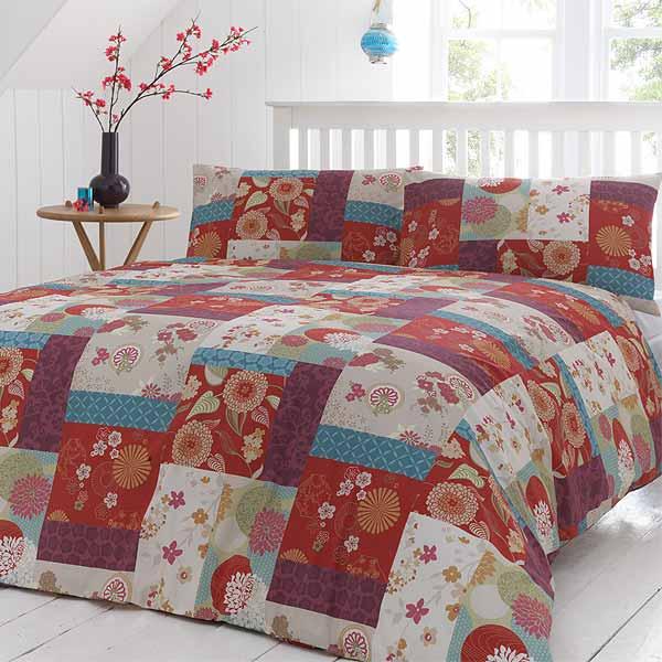 Dreams 'N' Drapes Oriental Patchwork Duvet Cover Set, Spice   eBay : oriental quilt cover - Adamdwight.com