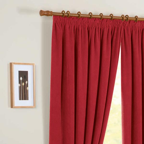 Cream And Red Curtains Pencil Pleat - Best Curtains 2017