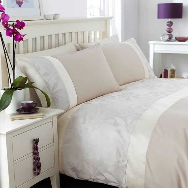 Matrimonio Bed Cover : Catherine lansfield home ivory floral jacquard duvet cover
