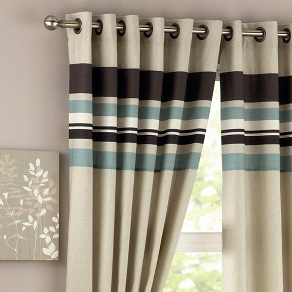 Curtains Ideas burgundy eyelet curtains : Cream And Gold Striped Curtains - Best Curtains 2017