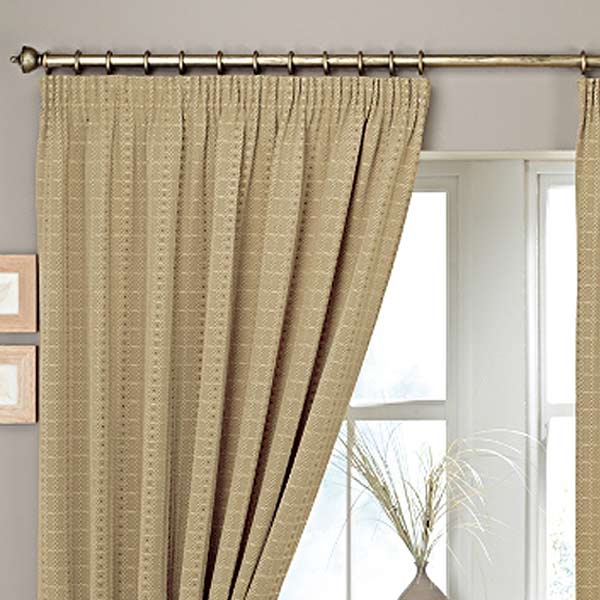 Curtina Marlowe Woven Jacquard Pencil Pleat Lined Curtains