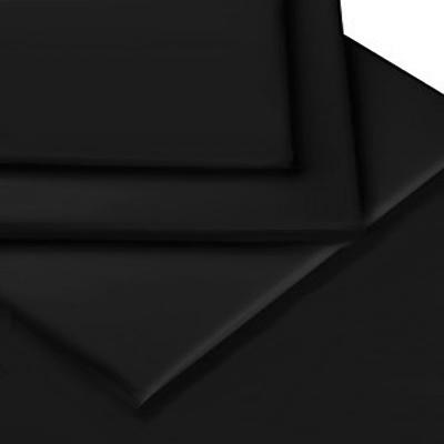 bettw sche set baumwoll polyester perkal schwarz f r 230 x 220cm. Black Bedroom Furniture Sets. Home Design Ideas