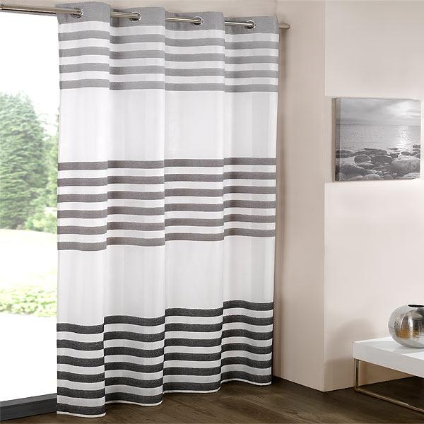 White modern voile net curtain all sizes available ebay - Benetton Chenille Voile Eyelet Curtain Panel