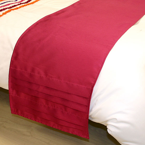 red bed runners and cushions 1