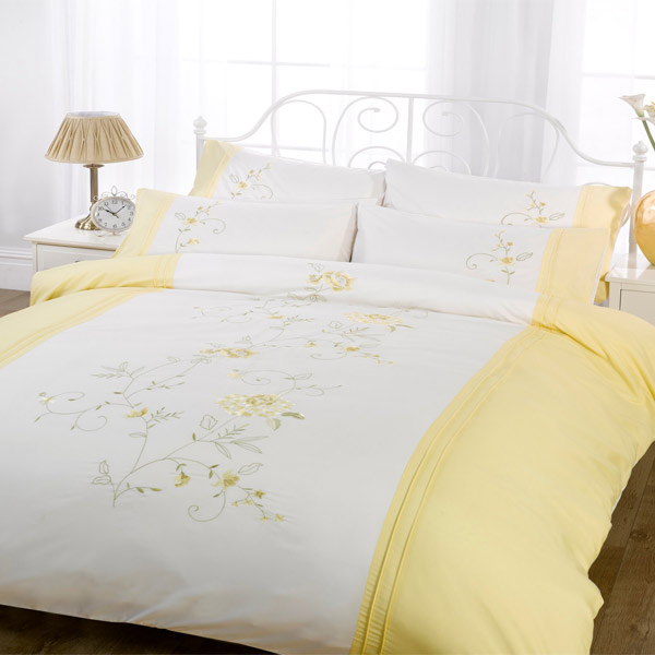 Lifestyle Claire Floral Embroiderey Duvet Cover Set Ebay