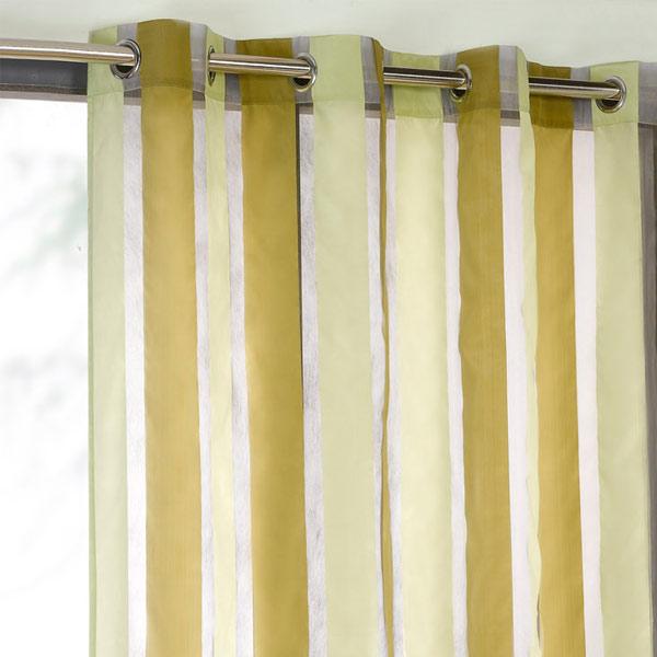 Vorhangschal cairo organza streifen voile mit sen for Vorhangschal kinderzimmer