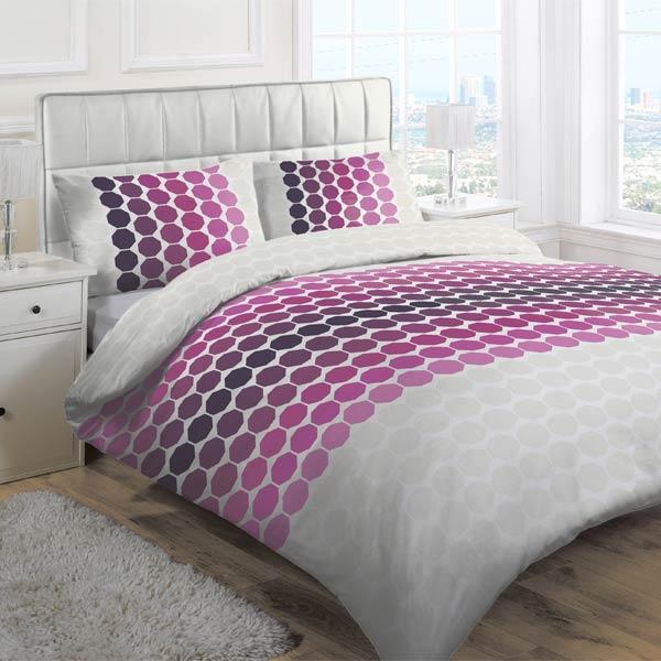 Linens limited octagon duvet cover set ebay daily deal for Housse de couette lilas