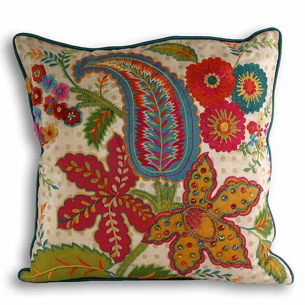 Paoletti Burma Indian Cushion Cover Multi 43 X 43 Cm Ebay