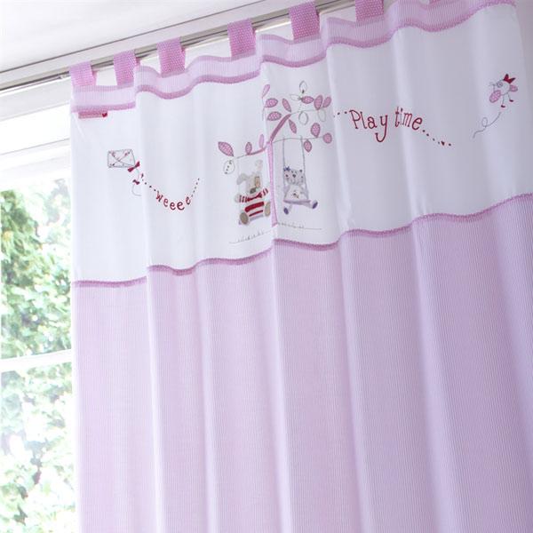 Izziwotnot rideaux pattes doubl s baby fleur 132 x 163 - Rideaux a pattes ...