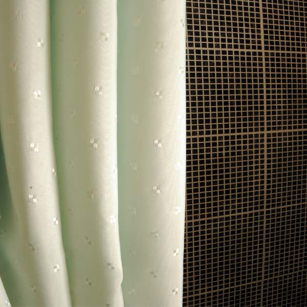 woven embroidered water repellent polyester shower curtain