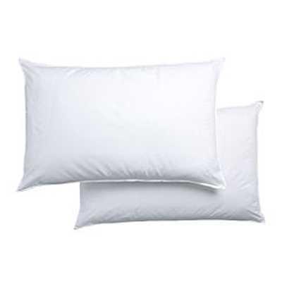 hohlfaser kissen antiallergen baumwolle polyester 2 st ck 48 x 74 cm ebay. Black Bedroom Furniture Sets. Home Design Ideas