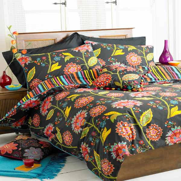 patchwork bed queen organic embroidered cover style set covers duvet indian bedding