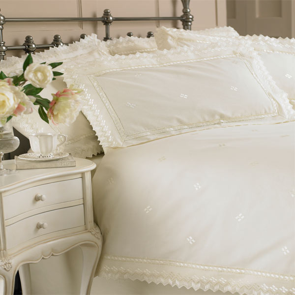 Riva Classics Megan Lace Broderie Anglasie Duvet Cover Set
